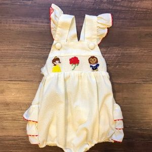 Other - GUC smocked beauty and the beast romper